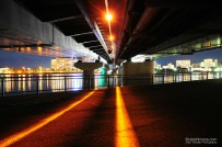 Beneath Shinji-ko Ohashi Bridge
