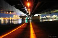 Beneath Shinji-ko Ohashi Bridge